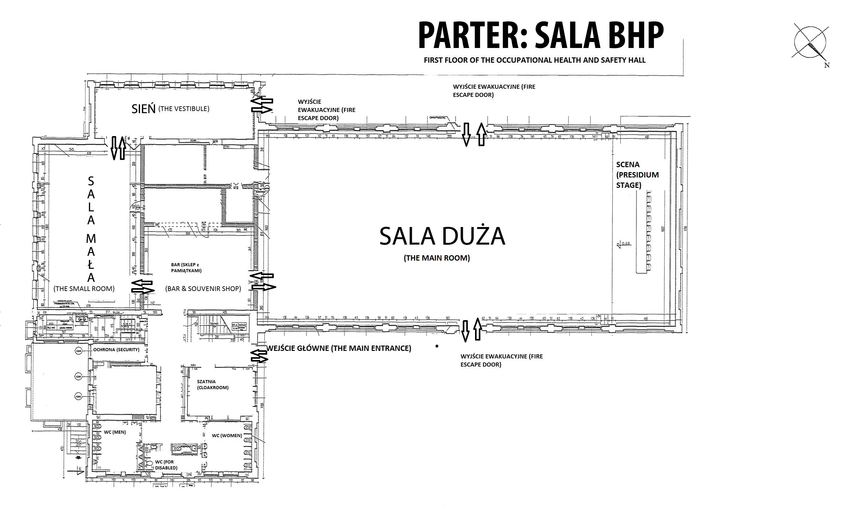 SALA BHP, PARTER, wszystkie pomieszczenia